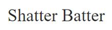 Shatter Batter Logo