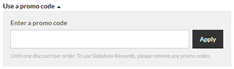 How to use Sideshow coupon code